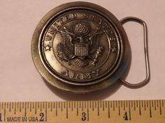VINTAGE 1977 UNITED STATES ARMY BELT BUCKLE BY GREAT AMERICAN $1.99 SHIPPING