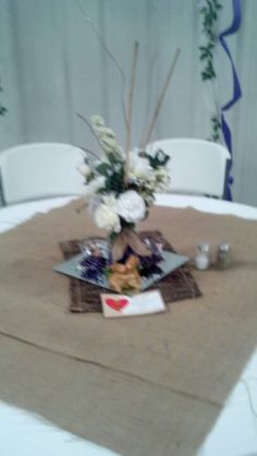 Table with burlap