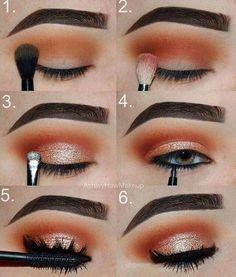 Gorgeous Makeup: Tips and Tricks With Eye Makeup and Eyeshadow – Makeup Design Ideas Makeup Eye Looks, Eye Makeup Steps, Cute Makeup, Gorgeous Makeup, Skin Makeup, Eyeshadow Makeup, Drugstore Makeup, Makeup Brushes, Make Up Gold