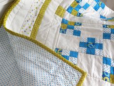 Modern baby quilt / play mat quilt / crib quilt / by EfkaQuilts