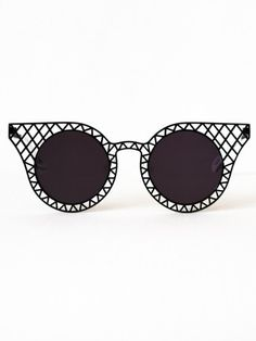 Cagefighters Black Sunglasses by House of Holland