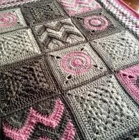 Modern Patchwork Blanket - via @Craftsy