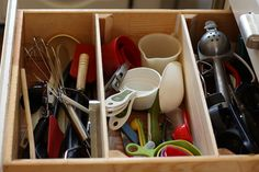 Paint Stick Drawer Organizer