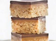Chocolate, Caramel Peanut-Butter Rice Krispies Treats