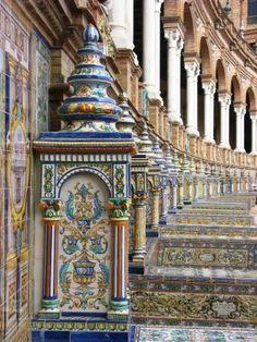 Plaza de España, Sevilla, España*Azulejos de Talavera de la Reina