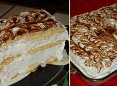 Vytunený piškotový dortík se zakysanou smetanou   NejRecept.cz No Bake Cookies, Vanilla Cake, Nutella, Tiramisu, Cheesecake, Sweet Tooth, Food And Drink, Pie, Sweets