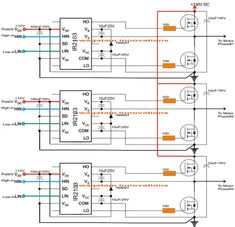 This post explain the genuine method of making an Arduino based three phase inverter circuit with programming code, using special 3 phase driver ICs Electronic Circuit Projects, Electronic Engineering, Arduino Projects, Electrical Engineering, Cnc Projects, Wireless Battery Charger, Automatic Battery Charger, Ac Circuit, Circuit Diagram