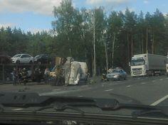 Автовоз и молоковоз столкнлись на автодороге Можга-Ижевск