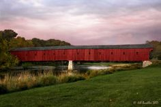 This is the last remaining covered bridge in Ontario, Canada.