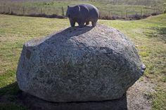 Wombat sculpture at Wombat, NSW - Wombat - Wikipedia, the free encyclopedia