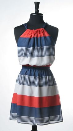 Americana Dress, wish this wasn't out of stock :( 4th Of July Dresses, Cute Summer Dresses, Cute Dresses, Casual Dresses, Summer Outfits, Cute Outfits, 4th Of July Outfits, Long Dresses, Summer Clothes
