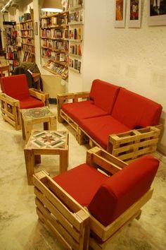 Muy pronto (Vitange Shop) presenta sus muebles a base de pallets