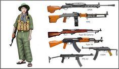 Vietnam War - Vietcong Fighter - Vietcong weapons by on DeviantArt Vietnam History, Vietnam War Photos, Us Army Uniforms, Military Drawings, Union Army, Military Weapons, Modern Warfare, Cold War, Military History