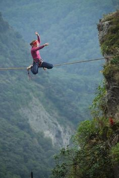 At least if I lose my balance, it doesn't suck as much as when this lady does. Really, I am not dangling on a literal tightrope over a cliff. Phew.