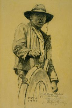 At The Wheel, Clifford Warren Ashley (1881-1947), America, 1905, pencil drawing