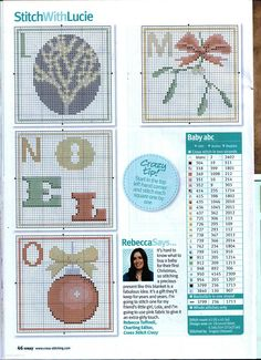 thread key on - image only Cross Stitch Cards, Cross Stitch Samplers, Cross Stitching, Cross Stitch Embroidery, Embroidery Alphabet, Cross Stitch Alphabet, Modern Embroidery, Cross Stitch Christmas Ornaments, Christmas Cross