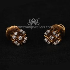 Buy Earrings Online | Elegant Diamond Studs from Kameswari Jewellers