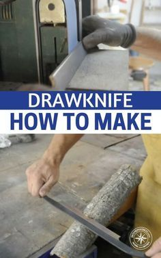 Drawknife, How to Make - This how to article will give you a method to create your own drawknife. Remember, you have to be able to create some of your own tools. You must also know how to repair old tools. There will not be a Lowes for you to go pick up tools. #shtf #survival #preparedness #prepper #drawknife #diydrawknife #preppersupplies