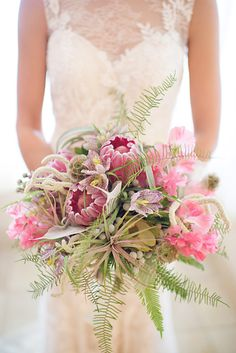 Nontraditional Pink Wedding Flowers
