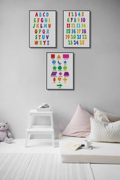 Nursery Decor Printable Wall Art Alphabet print Numbers | Etsy Artwork Prints, Canvas Prints, Ups Store, Alphabet Print, Home Printers, Photo Center, Printable Wall Art, Nursery Decor, Numbers