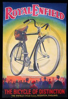 Royal Enfield, bicicleta, regalo, hombre, impresión de la década de 1930