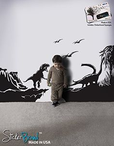 "Stickerbrand© Dinosaurs Vinyl Wall Art T-Rex Dinosaur World Wall Decal Sticker - Black, 42"" x 76"". Easy to Apply & Removable. Includes FREE Application Squeegee Stickerbrand http://www.amazon.com/dp/B008DI1MFI/ref=cm_sw_r_pi_dp_-tKXwb1DQ9XNN"