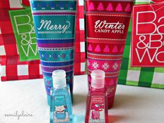 Christmas and winter bath and body works
