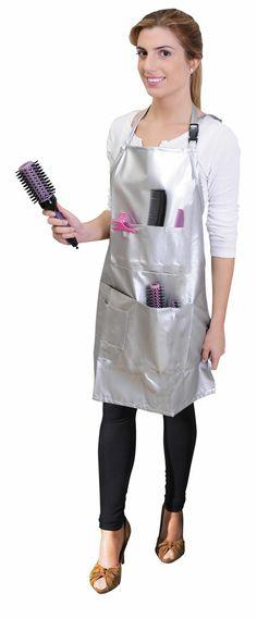 Ref. 01962/54. Delantal plateado para peluquería de la marca Eurostil