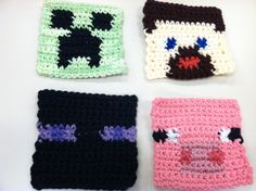 crochet minecraft hat - Google Search
