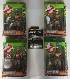 Nu in de #Catawiki veilingen: Ghostbusters - 4 Poppen (Mattel) & Ecto 1 (Hot Wheels)