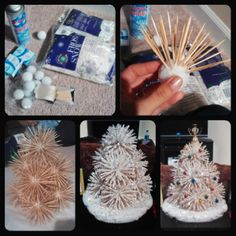 Toothpick Christmas tree....just like the ones that Mom made!