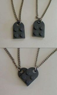 This would be a really cute idea for friendship necklaces!