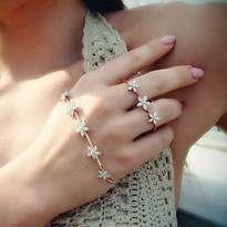 """Diamond """"Pixie"""" Hand Bracelet - Plukka - Fine Jewelry"""