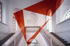 Anamorphic installations by Felice Varini