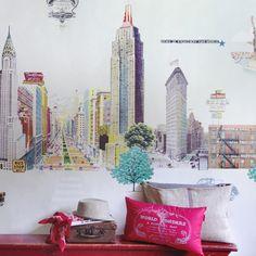 Le papier peint New York City fera voyager quotidiennement votre enfant, pour son plus grand bonheur et le votre !