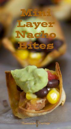 Mini Layer Nacho Bites