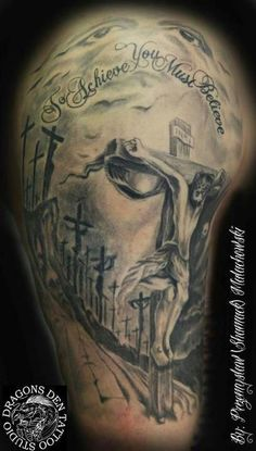 Jesus tattoo OMG Tattoo Artist Przemek The Dragons Den Tattoo Studio Blackpool… Dove Tattoos, Dream Tattoos, Body Art Tattoos, Sleeve Tattoos, Key Tattoos, Skull Tattoos, Tatoos, Optical Illusion Tattoo, Christ Tattoo