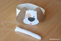 Piesek - papierowa opaska na głowę i ogon (przebranie w wersji DIY)