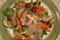 One Pan Baked Chicken & Vegetables  (Gluten Free, Dairy Free)
