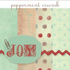 Peppermint Crunch -- Free Mini Digi Scrap Kit by Pumpkins & Posies
