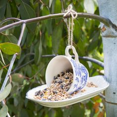 It's not always big things that change the feel of a garden – it can simply amount to the sounds you hear outside. Boost your garden's atmosphere by encouraging birds in with a DIY bird feeder; their song will instantly create a more positive feel.