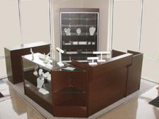 Dark Walnut Showcases  Assembled & Knocked Down options  Create your own custom retail display   Check them out at BarrDisplay.com