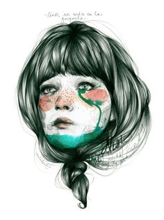 Paula Bonet illustration ~ Nus a la gola L'art Du Portrait, Portraits, Paula Bonet, Arte Sketchbook, Psy Art, Illustrations And Posters, Photomontage, Love Art, Illustrators