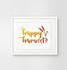 Happy Harvest Printable by ShadesOfBlueDesign on Etsy