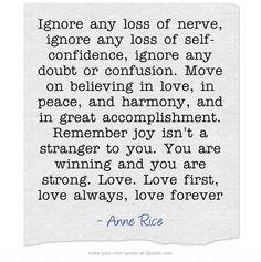 I believe in you....always. <3