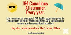 Unfortunately, we see more trauma cases in summer. Stay alert. Say 'no' to distracted driving: http://sunnybrook.ca/staysafe
