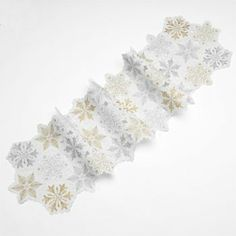 St. Nicholas Square Snowflake Cutout Table Runner
