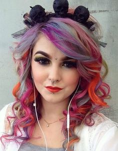 Pin for Later: 101 Real Girls Who Dare to Rock Rainbow Hair Sunset Strands