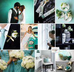 teal/aqua wedding