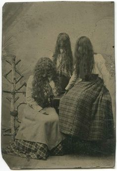 Creepy vintage tin type l I always wonder what the backstory is: